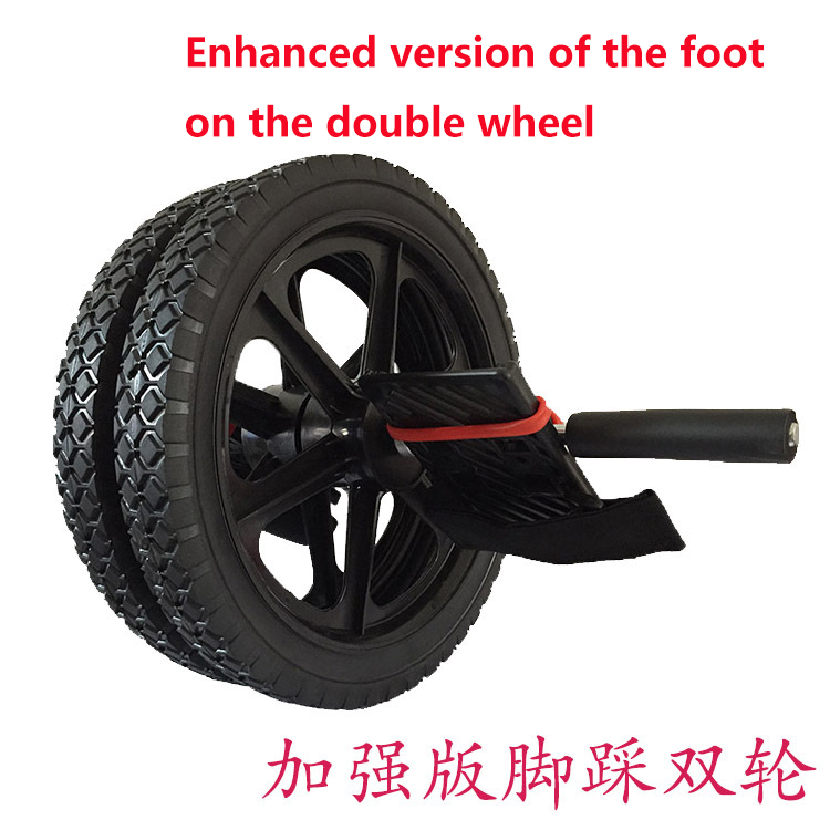 (Rueda doble) rueda de potencia de actualización multifuncional núcleo ejercicio doble rueda de músculo Abdominal rueda de energía - 5