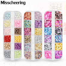 1 Set Colorful Ultrathin Sequins Aurora Mermaid Nail Glitter Flakes Holographic Round Paillette 3d Dazzling Nail Art Decorations