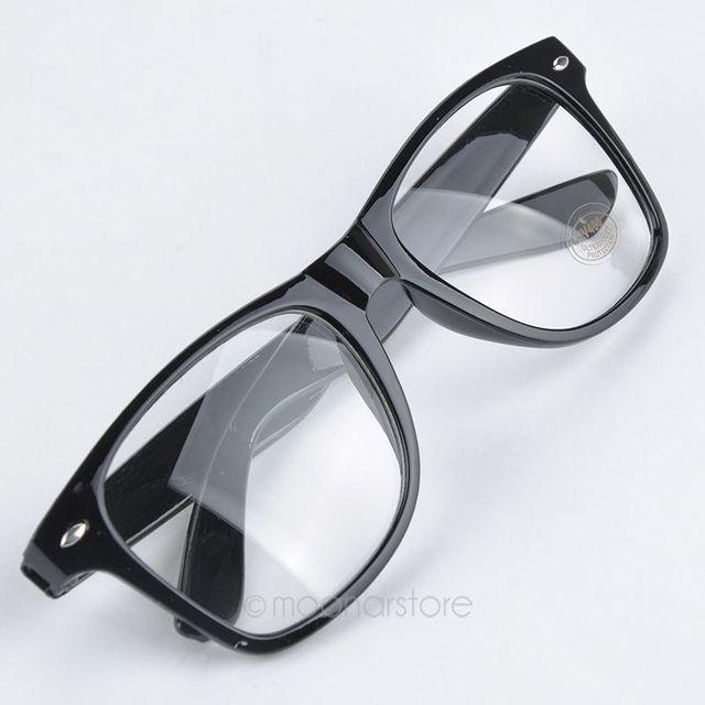 5327e0f4ca De moda nuevo estilo de verano Color caramelo gafas Unisex lente clara del  empollón del friki