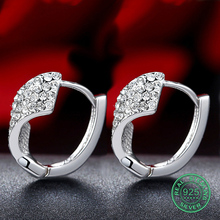925 Sterling Silver Hoop Earrings For Women Real Pure Elegant Fine Female Miss Mother Gift Party 2017 New Trendy Good Upscale