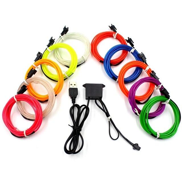 1M/2M/3M/5M/10M lampa neonowa imprezowa ozdoba do tańca światło Neon LED lampa elastyczna EL lina stalowa rura wodoodporna taśma LED