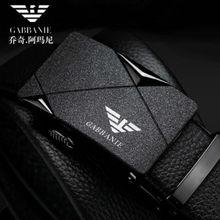 Famous Brand Belt Men Top Quality Genuine Luxury Leather Belts for Men, Eagle Logo Strap Male Metal Automatic Buckle