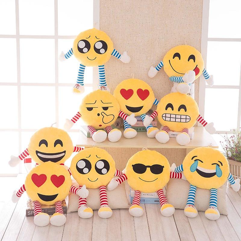 Cute Emoji Cushion Custom Soft Plush Smile Face Decorative