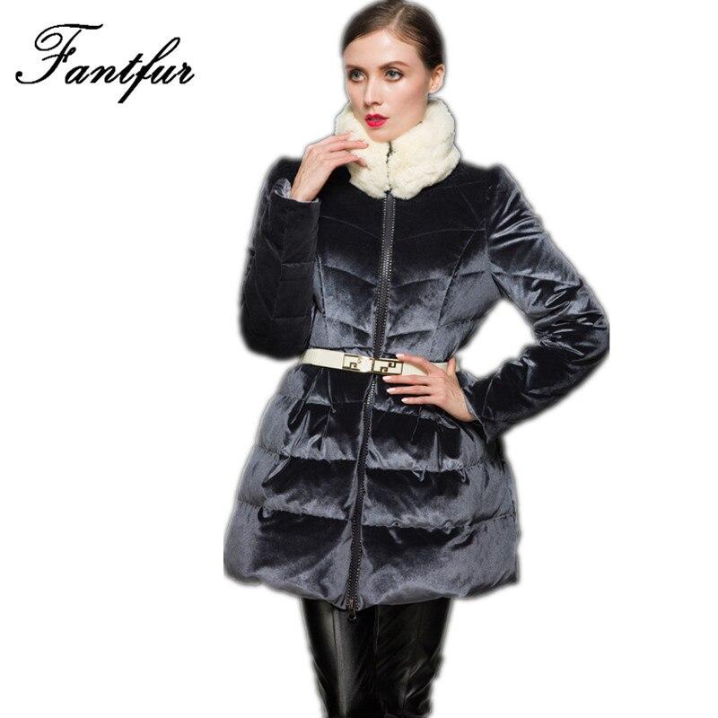 FANTFUR Women Winter Parka Womens Winter Jackets Womens Parka Fur  Long Winter Jacket Womens Down Jackets Winter Outerwear Women winter