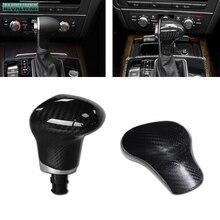 fit For Audi A4 A5 A6 A7 Q5 Q7 S6 S7 2009 2010 2011 2012 2013 2014 2015 2016 Carbon Fiber 3D sticker Gear Shift Knob Cover trim for audi a4 a5 q5 a6 s6 a7 s7 q7 carbon fiber gear shift knob cover fit left