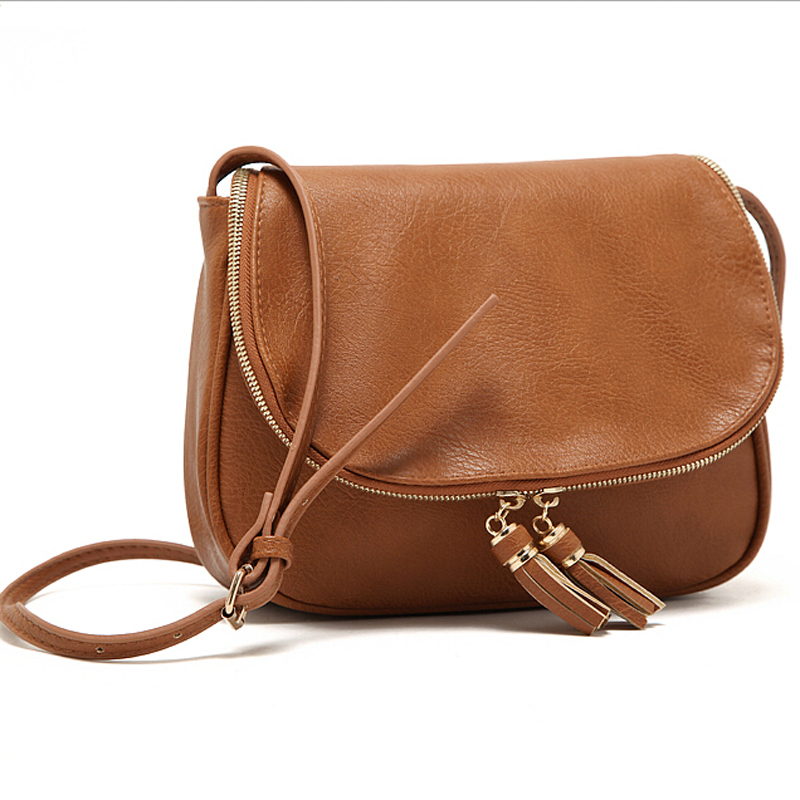 Tassel Women Messenger Bags Designer Leather Handbags High Quality Cross Body Shoulder Fashion Bag In Top Handle From