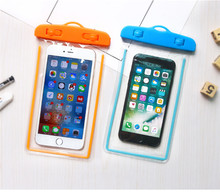 Luminous Pouch Cell Phones Portable Bag Sealing PVC Mobile Waterproof Phone for iPhone Huawei Samsung Redmi Colorful