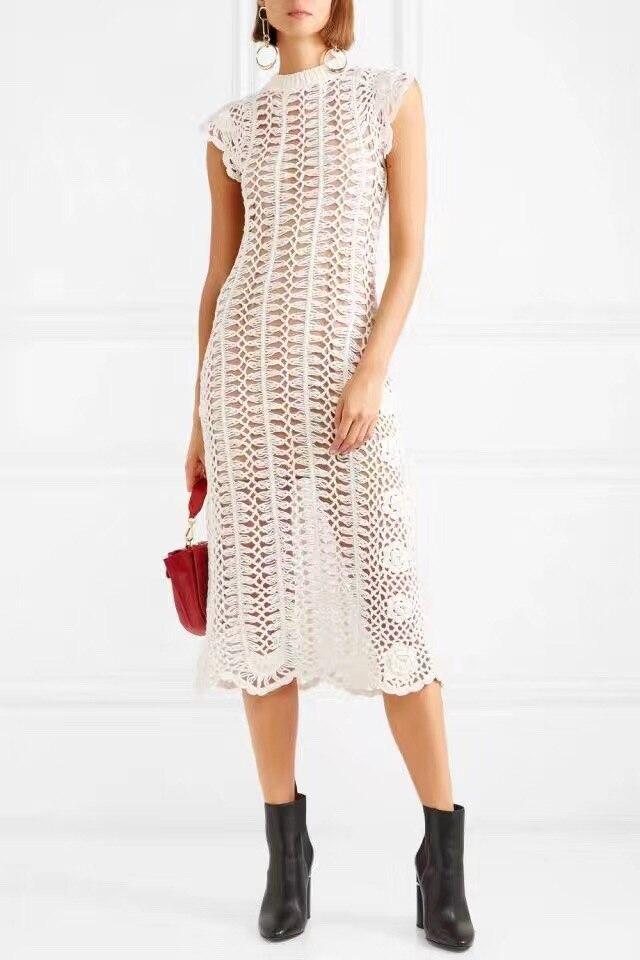 2019 nouvelle arrivée blanc/noir femmes robe-in Robes from Mode Femme et Accessoires    1