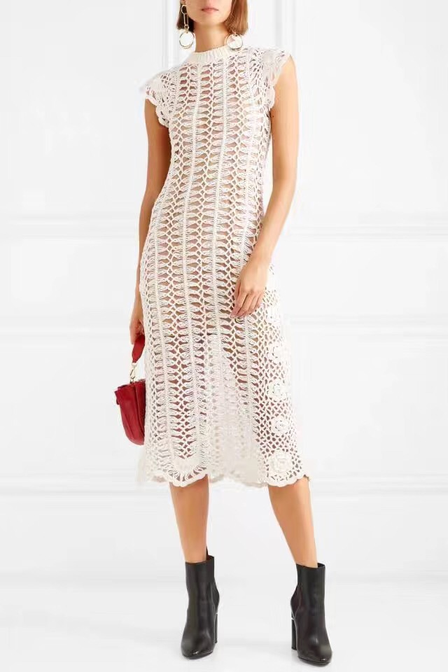 2019 جديد وصول الأبيض/الأسود النساء اللباس-في فساتين من ملابس نسائية على  مجموعة 1