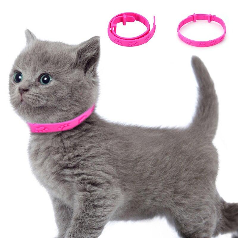 Anti หมัดปลอกคอแมวสัตว์เลี้ยงสุนัข Puppy แมวแมวกลางแจ้งยุงสายคล้องคอ Mite Tick ปรับ CollarPet อุปกรณ์