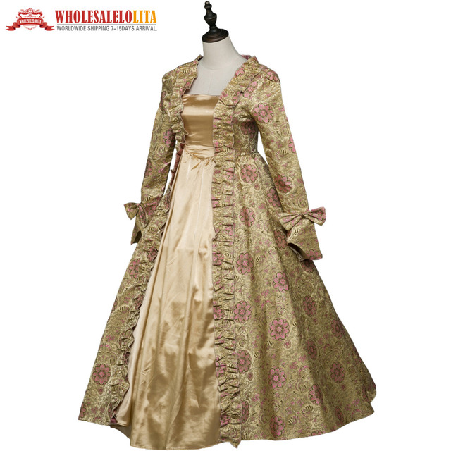 Gothic Period Medieval Dresses Georgian Renaissance Princess Dress Masquerade Ball Gown Vampire Halloween Costume