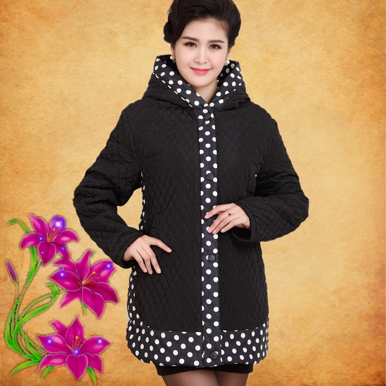 Mother loaded cotton coat thickening in the elderly female down in the winter long new cotton jacket 2017 winter women plus size in the elderly mother loaded cotton coat jacket casual thickening warm cotton jacket coat women 328