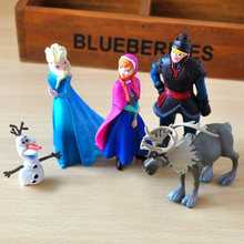 5 sztuk/partia Disney księżniczka Elsa Anna mrożone królowa śniegu Model Kristoff Sven Olaf pcv rysunek zabawki Juguetes prezent dla dzieci Snowman