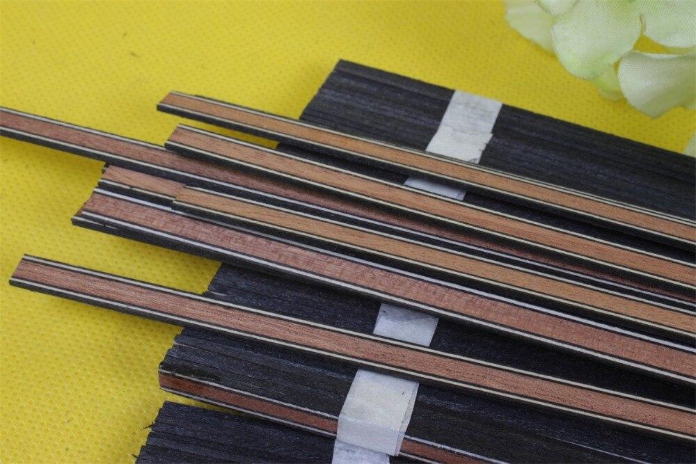 Yinfente 25x guitare reliure incrustation corps projet Purfling bande bois massif guitare pièces palissandre érable 640x6x1.2mm