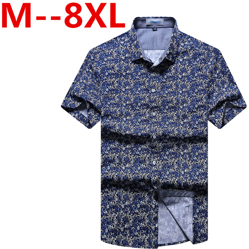 Plus size 9XL 8XL 7XL 6XL 5XL 4XL Free shipping Custom short sleeve big size Hawaiian