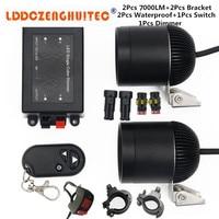 LDDCZENGHUITEC Car Styling Universal Electric Motorcycle Lamp LED Fog Spot White Light Headlight 12V 24V New
