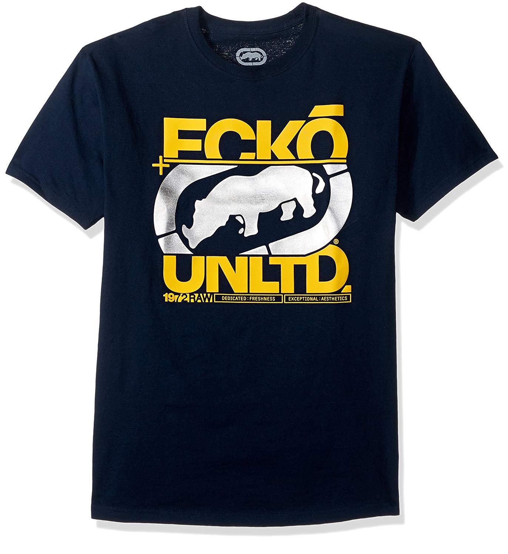 Ecko Unltd. Men's In The Cut Tee Shirt 100% Cotton Short Sleeve O-Neck Tops Tee Shirts Adults Casual Tee Shirt