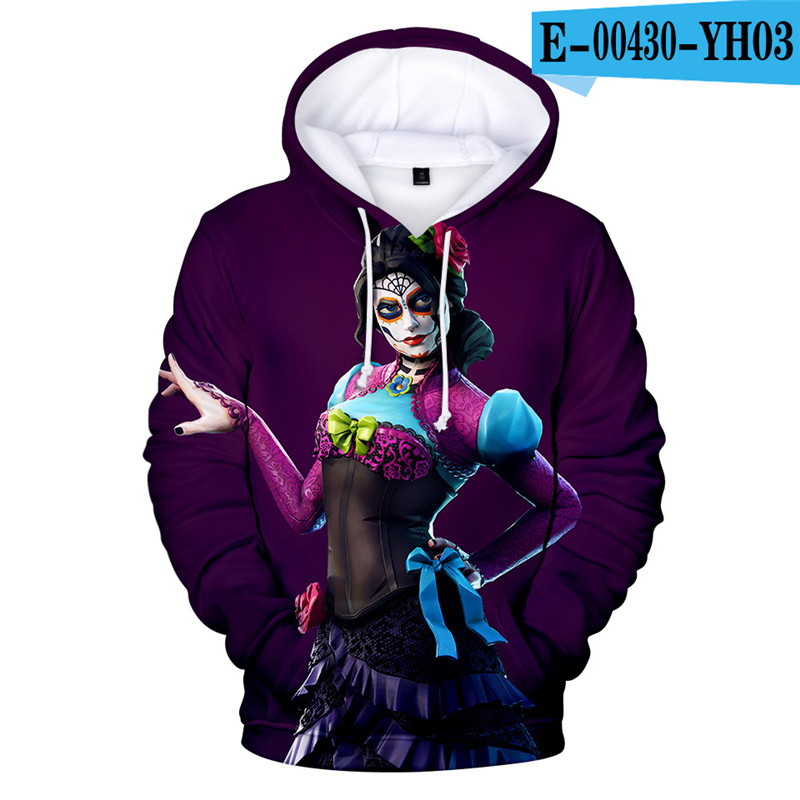 3D Print Hoodie Fortnited Girls Moletons 3D Print Children Clothing Fortnight 2019 Popular Clothes Kid Clothings Streetwear