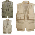 New Summer Outdoors Cotton Photography Vest 5XL Multi-Pocket Men Vest Waistcoat 5XL Father installed a Large Yard