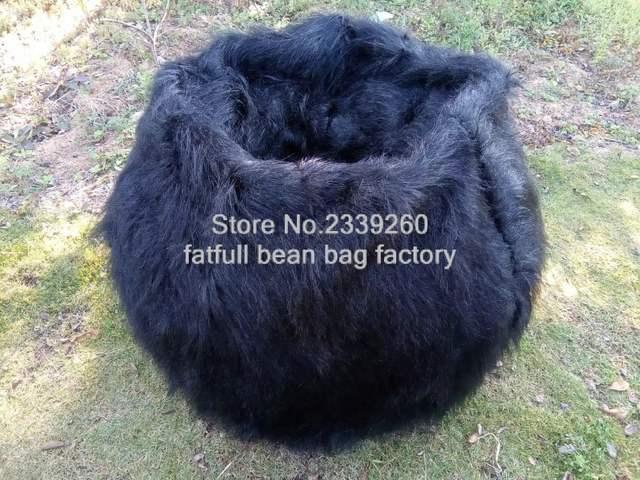 placeholder New Shaggy Lush White black Soft Luxury Faux Fur Beanbag Bean  Bag Lounge Chair 104cmD - 31d388a447e00
