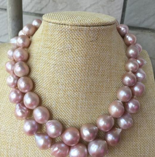 gorgeous 14-15MM SOUTH SEA BAROQUE LAVENDER PEARL NECKLACE 38INCH 925silvergorgeous 14-15MM SOUTH SEA BAROQUE LAVENDER PEARL NECKLACE 38INCH 925silver
