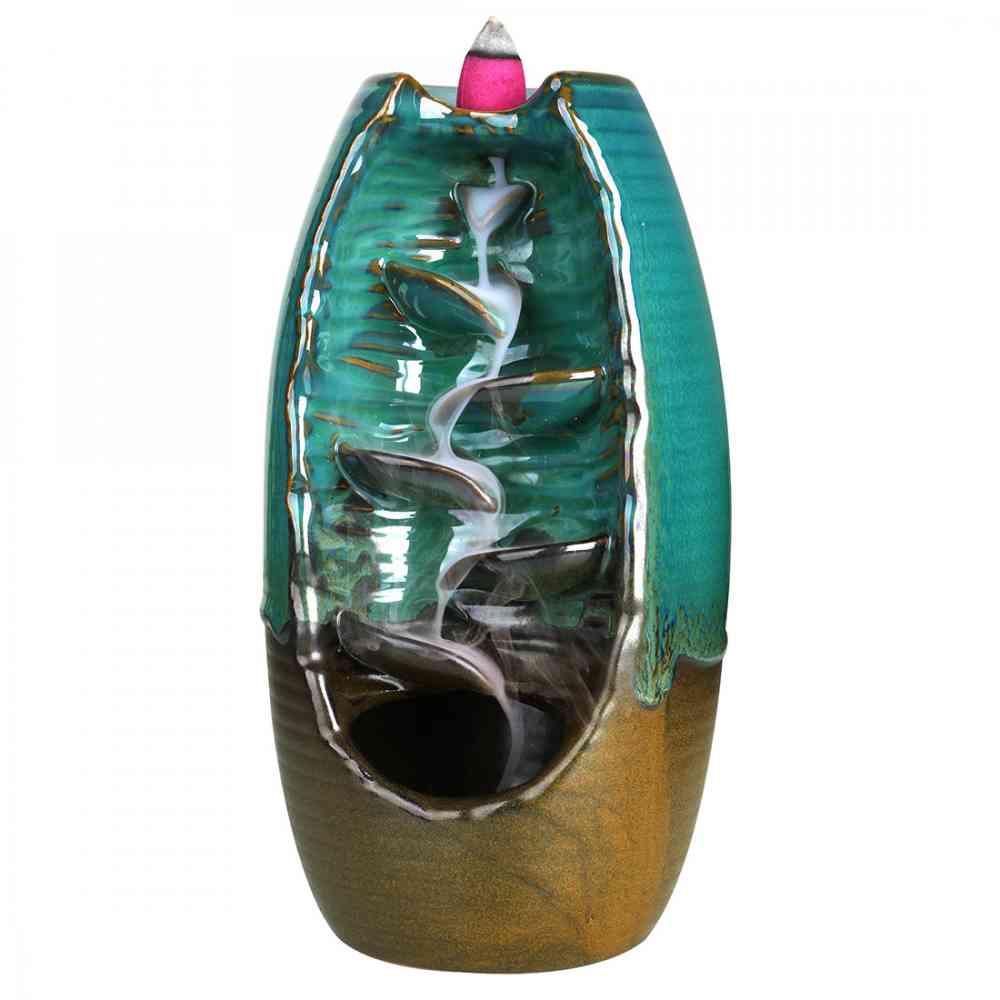 3 Color Backflow Incense Burners Ceramic Holder Creative Home Decor Smoke Waterfall Meditation Aromatherapy Censer