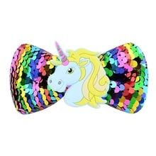 Girls' Unicorn Sequin Bowknot Hair Clip