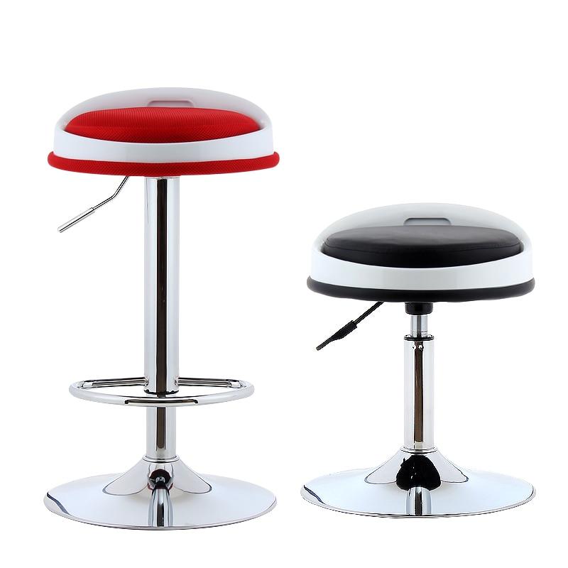 Swivel Lifting Chair Bar Stool Adjustable Height Rotatable Mesh Cloth With Footrest Bar/Office/Hair Salon/Cashier Chair Cadeira