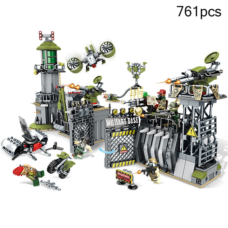 Military Weapon Swat War Building Blocks Compatible Legoed City World War II Army Jungle Enlighten Bricks Toys For Children Gift цена