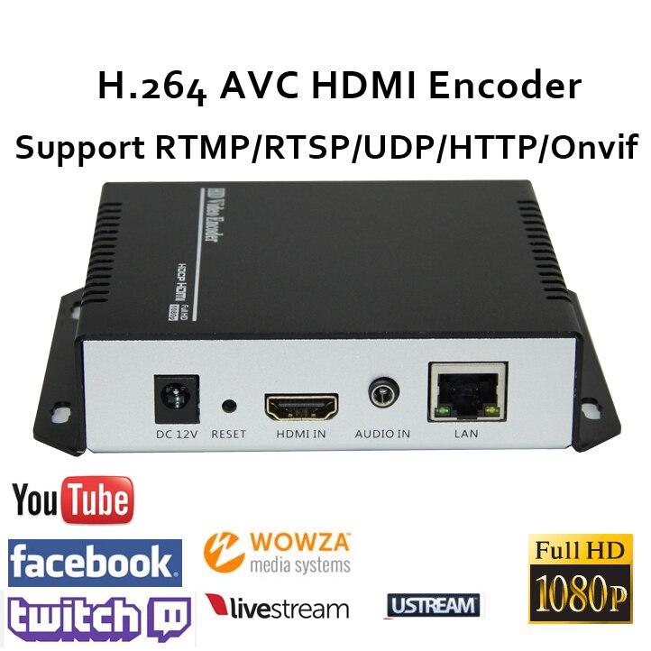 H.264 HDMI Vidéo Codeur soutien RTSP/RTMP/UDP/RTP/HTTP pour Diffusion en direct iptv codeur