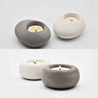 Creative Round Concrete Candle Holder Silicone Mold Wedding Decoration Home Bar Crafts Concrete Planter Candlestick Molds