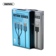 Remax 3 in 1 data Cable 2.4A Fast Charging for iPhone 5 5S SE Samsung S10 Note 7 xiaomi mini 8 Huawei p20 P30 Pro Sony