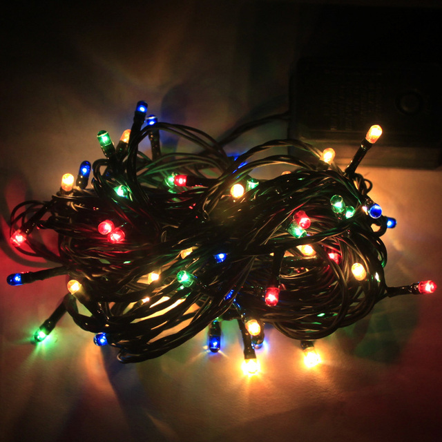 38 m seven color bubble lights flashing christmas tree light string christmas tree decoration decorative bar