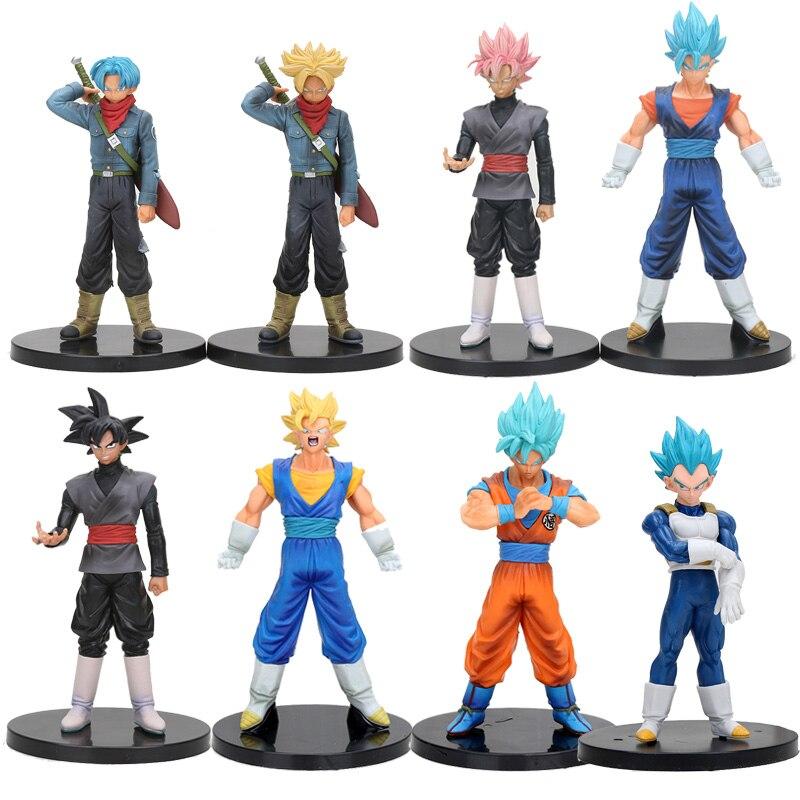 8pcs lot Dragon Ball Super DXF The Super Warriors Super Saiyan God Son Goku Vegetto Trunks