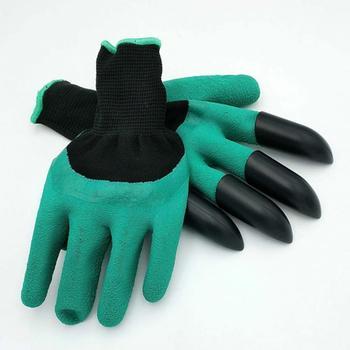 Tuin Handschoenen & met 4 klauwen Plastic Rubber Handschoenen Snel Graven en Planten Waterdicht Essentiële Tuin Gadget