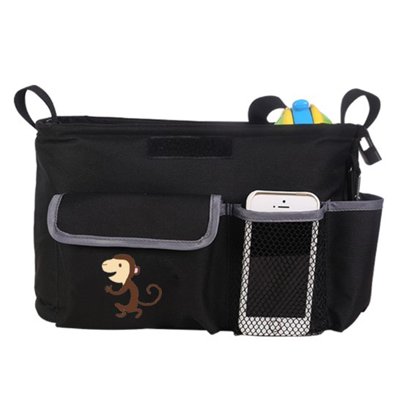 Oxford cloth Baby Nappy Diaper Bag Mummy Maternity Nappy Bag Zebra Shoulder Bags Monkey Handbag Large Waterproof stroller bag