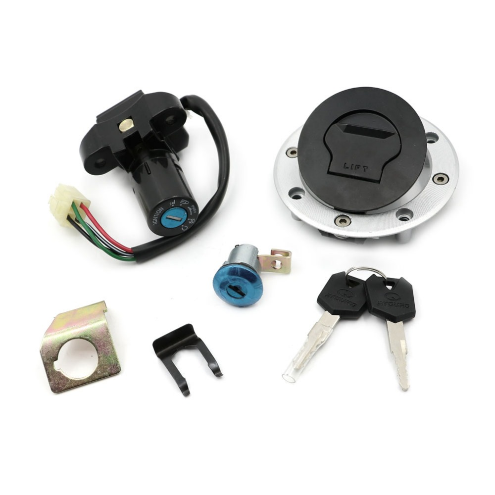 Ignition Switch Lock Fuel Gas Cap Cover Seat Lock Key Sets For Suzuki GS500 GS 500