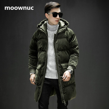 2018 men New Classic Cotton-padded jacket hooded Parkas coats mens Hooded coat Men's winter fashion thickening Jackets outwear