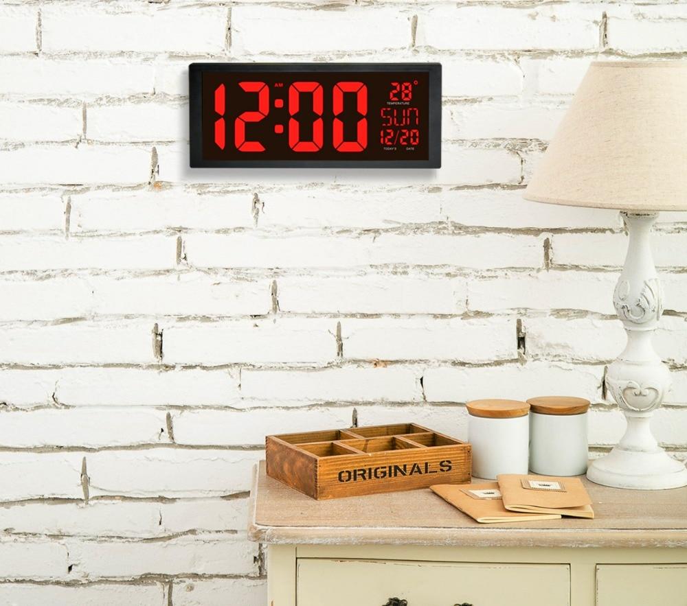 Aliexpresscom Buy Square 14 inch Wall Clock Digital LED
