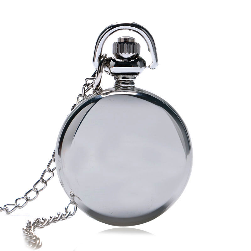 Fashion Silver Pattern Design Doctor Who for Quartz Pocket Watch Necklace Chain Children Kids Clock Women Mens Gifts Small