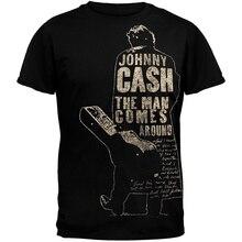 Funky T Shirts Regular Short O-Neck Mens Johnny Cash - Mens Comes Around Tee Shirt deborah o opara whatever goes around comes back around wedding reconciliation
