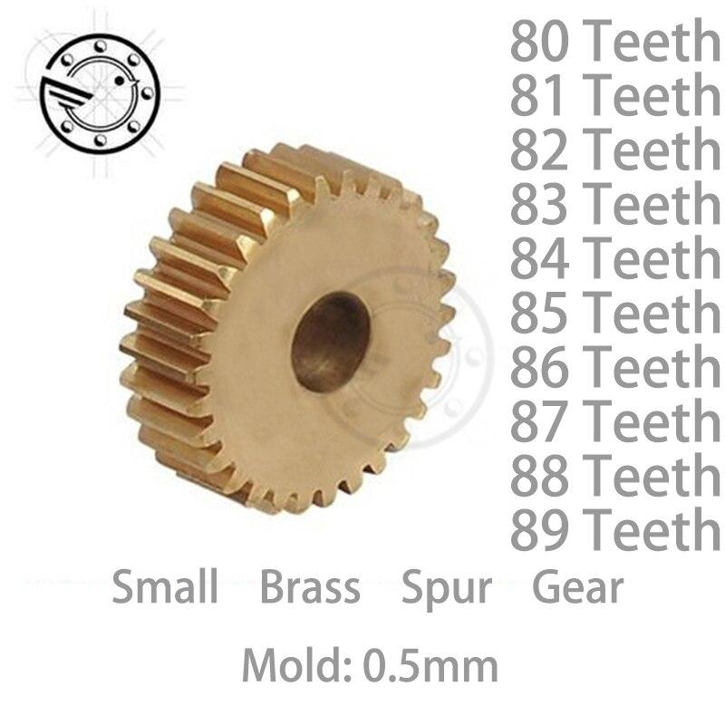 1pcs/lot 0.5M 80 81 82 83 84 85 86 87 88 89 Teeth Small Brass Spur Gear CNC lathe machining parts торшер leds c4 torino 25 4695 81 82 pan 159 by