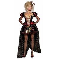 Wholesale Queen of Hearts Costume Adult Fancy Dress Women Deluxe Luxury Wonderland Queen Dress Halloween Costumes