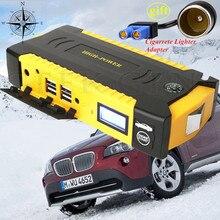 Портативный Многофункциональный 16000 мАч 12 В автомобиль скачок стартер 4USB Мощность банк 600A автомобиля Батарея Зарядное устройство Дизель Бензин пусковое устройство LED