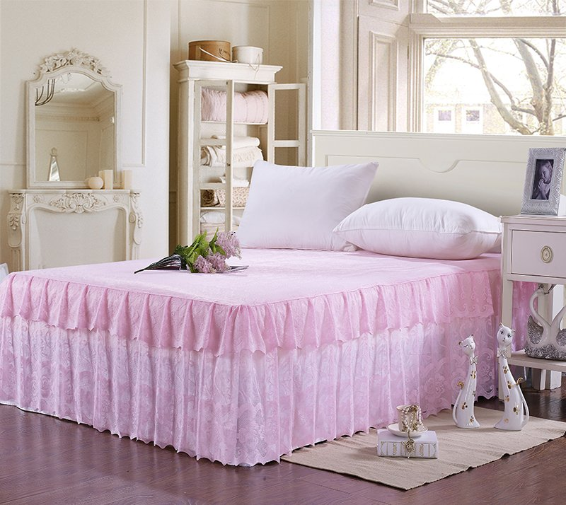 High Quality Home Bedspread Korean Bed Skirt Cover Sheet Full Queen King Size #/L