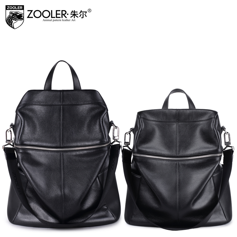 ZOOLER two size Genuine Leather Backpack for men large capacity cowhide Bags real leather Back Pack Bookbag Mochila #XS-8320A zooler genuine leather backpacks 2016 new real leather backpack for men famous brand china hot large capacity hot 65055
