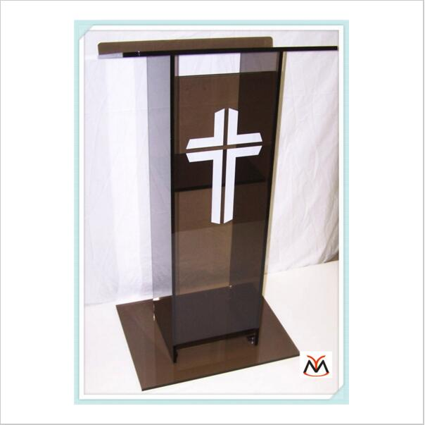 FREE SHIPPING Popular transparent knockdown acrylic lectern for church free shipping  transparent rear