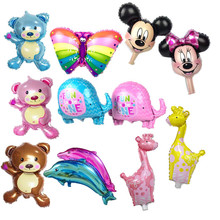 30 type mini bear giraffe balloon Elephant butterfly cartoon balloons aluminum dolphin balloons 40*30 cm birthday party balloon