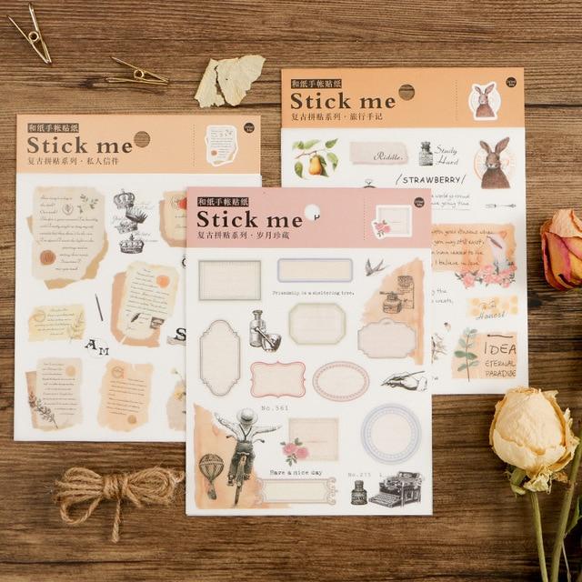 1 sheet 4 style choose stamp mirror frame love letter design sticker gift tag christmas gift
