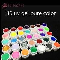 Burano 36 kleuren/set kiezen pure \ glitter power \ pailletten kleur uv gel nail art tips glanzende cover extension manicure gel nail
